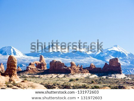 La Sal Mountains, Arches NP, Utah, USA Stock photo © phbcz
