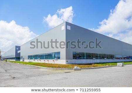 Industriële gebouw licht deur venster rook Stockfoto © meinzahn