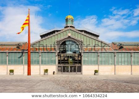 Mercado edifício nascido Barcelona urbano escuro Foto stock © Nejron