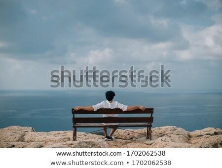 derrière · Rock · scénique · vue · ciel · nature - photo stock © nejron