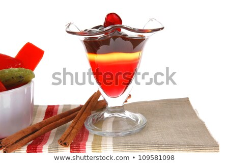 Fruit jelly sweets in a line over white. Stock photo © lucielang