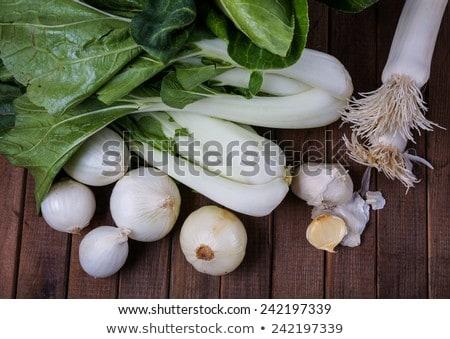 Cebola brócolis legumes frescos comida folhas chinês Foto stock © Klinker