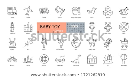 rügy · kislány · illusztráció · virág · lány · baba - stock fotó © adrenalina