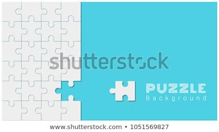 impuesto · rompecabezas · que · falta · piezas · brillante · verde - foto stock © tashatuvango