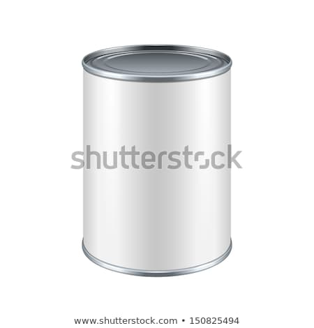 White Blank Tincan Metal Tin Can, Canned Food Stock photo © netkov1