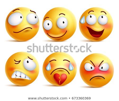 Cuore faccia emozione icona illustrazione segno Foto d'archivio © kiddaikiddee