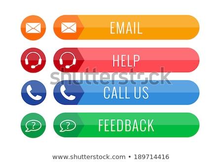 телефон синий белый цветами кнопки икона Сток-фото © ahasoft