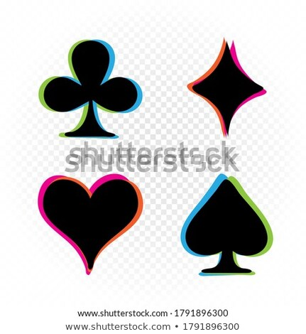 Simples vermelho pôquer transparente efeito padrão Foto stock © liliwhite