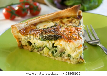 Tranche courgette alimentaire oeufs tarte flou Photo stock © monkey_business