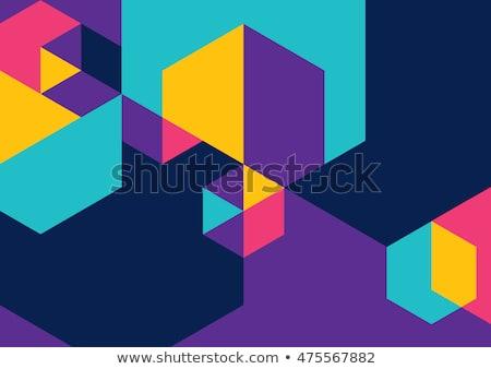 Stok fotoğraf: Soyut · renkli · altıgen · dizayn