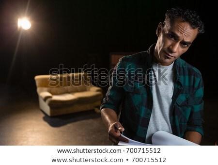 Portré színész tart színpad színház férfi Stock fotó © wavebreak_media