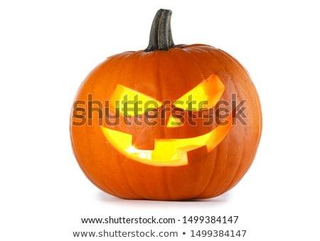 Halloween scary pompoen glimlach dochter Stockfoto © Illia