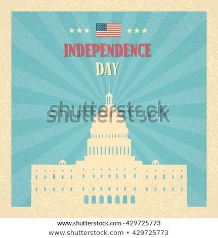 Boldog nap poszter Washington öreg világ Stock fotó © robuart