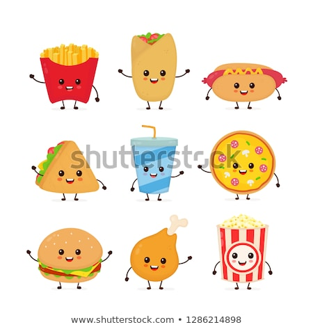 Pizza and Popcorn Collection Vector Illustration Stock photo © robuart