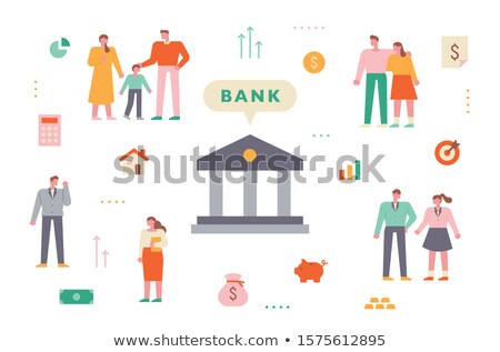family financial plan poster vector illustration stock photo © robuart