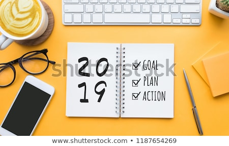 Notebook on a desk 2019 Stock photo © Zerbor