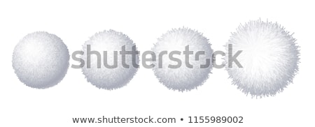 vector set of colorful pom poms. fur fluffy balls  Stock photo © freesoulproduction
