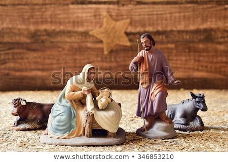 イエス · クリスマス · 孤立した · 白 · 母親 - ストックフォト © nito