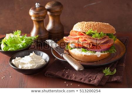 Бутерброды кремом сыра ветчиной продовольствие Сток-фото © Alex9500