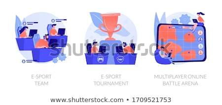 Multiplayer online battle arena concept vector illustration. Stock photo © RAStudio