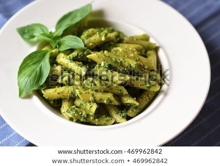 macarrão · pesto · queijo · molho · tigela - foto stock © tycoon