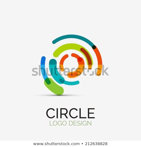 logo business circle tech icon colorful vector Stock photo © blaskorizov