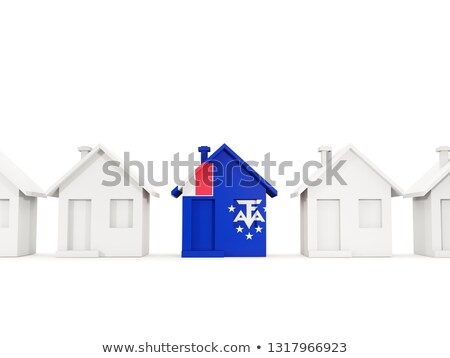 House with flag of french southern territories Stock photo © MikhailMishchenko
