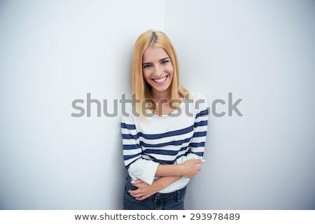 profile · femme · d'affaires · portrait · jeunes · permanent - photo stock © filipw