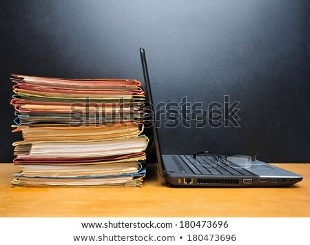 Tax Text In Front Of Paper Stacked Stock photo © AndreyPopov