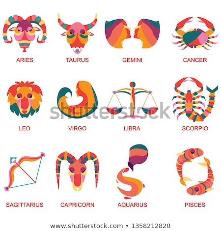 Colorful Cartoon of Libra Zodiac Sign Stock photo © cidepix