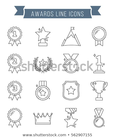 laurel wreath icon with number one two three stock photo © foxysgraphic