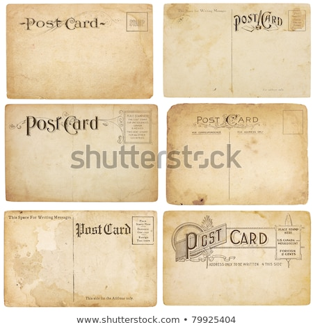 Stock photo: Six Vintage Unstamped Post Cards