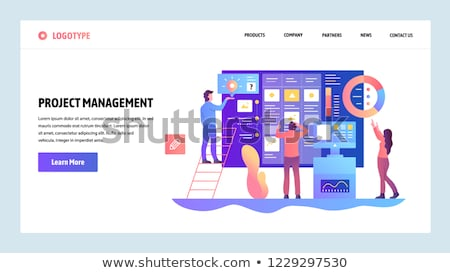 agile project management landing page template foto d'archivio © rastudio