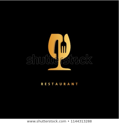 Wine Alcohol Bar, Cafe Restaurant Logo Vector Stock photo © robuart