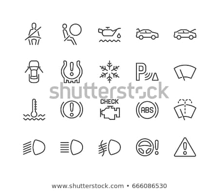 Icon of motor temperature. Stock photo © smoki