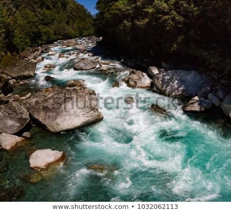 Berg Stream Felsen fließend Klippe nach unten Stock foto © lovleah
