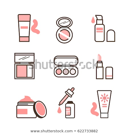 Stockfoto: Sunscreen Collection Elements Icons Set Vector