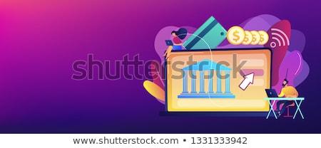 Open bancaire banner Stockfoto © RAStudio