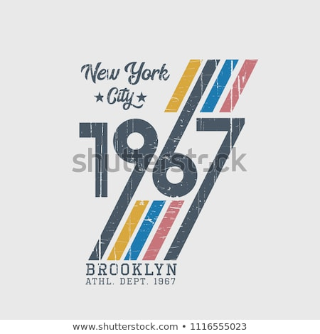New York Sport T-shirt Typography, baseball print. vector Stock photo © Andrei_