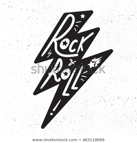 Rock rotolare tshirt adesivo stampa tessuto Foto d'archivio © barsrsind