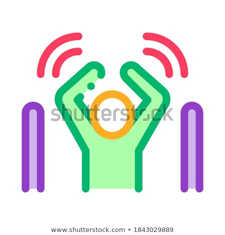 Man Not Passed Warning Signal Sensors Icon Vector Outline Illustration Stock photo © pikepicture