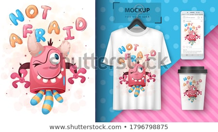 Boo monster poster and merchandising Stock photo © rwgusev