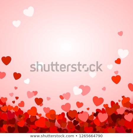 Mutlu sevgililer günü kâğıt kırmızı pembe beyaz Stok fotoğraf © olehsvetiukha