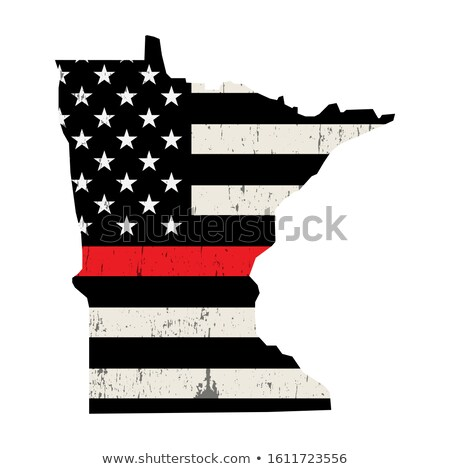 State of Minnesota Firefighter Support Flag Illustration Stock photo © enterlinedesign
