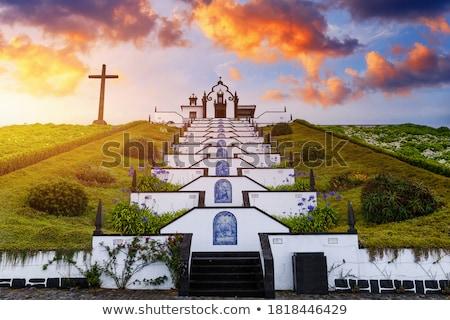 Dame vrede kapel Portugal eiland landschap Stockfoto © hsfelix