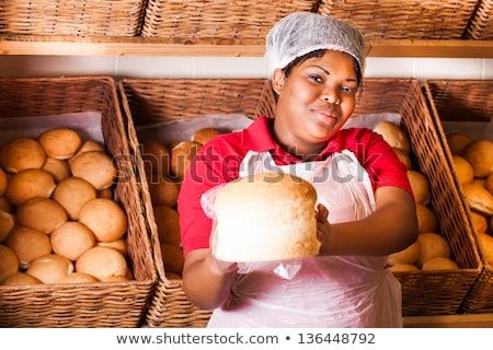 продажи женщину хлебобулочные магазин Постоянный Сток-фото © Kzenon