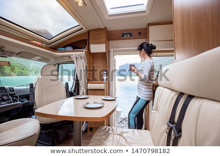 View from the window of the motorhome RV Caravan on the beautifu Stock photo © cookelma