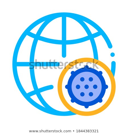 Microscopic Bacterium And Planet Vector Sign Icon Stock photo © pikepicture