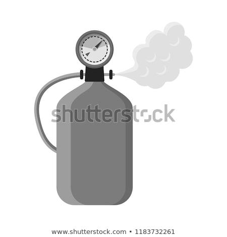 Oksijen silindir vektör ikon ince Stok fotoğraf © pikepicture
