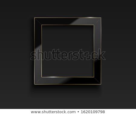 Vector vierkante glanzend luxe zwarte frame Stockfoto © Iaroslava